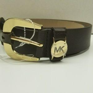 Women's micheal kors full grain leather belt sz-M
